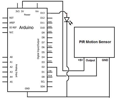 How Build Motion Sensor Light Circuit With Arduino