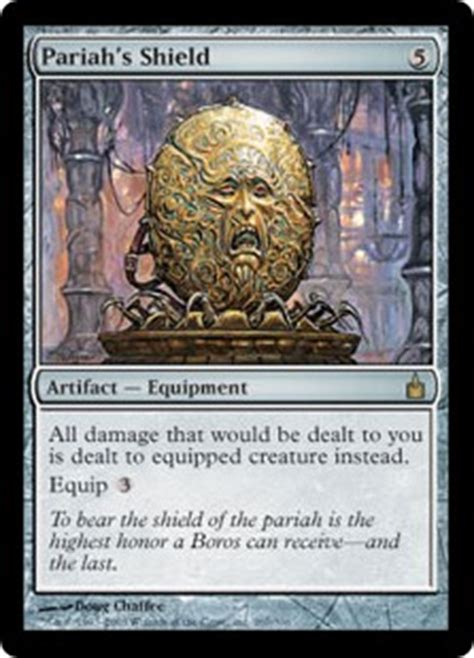 pariahs shield artifact cards mtg salvation