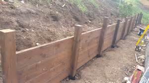 wood retaining wall construction wood retaining wall design u design blog