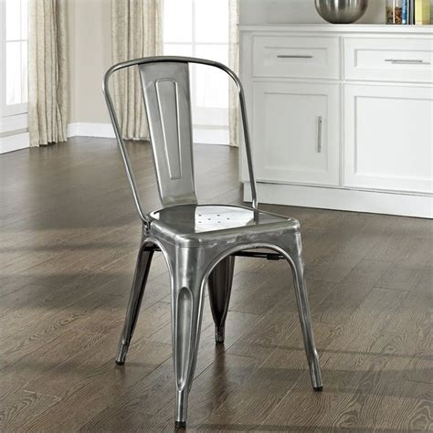 crosley furniture amelia metal cafe dining chair