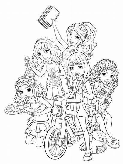 Lego Coloring Friends Pages Livi Drawing Sheets