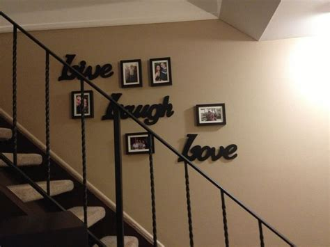 picture frame collage  stairs  house ideas