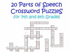 20 parts of speech crossword puzzles for grades 7 and 8 by perkiteacher teaching resources