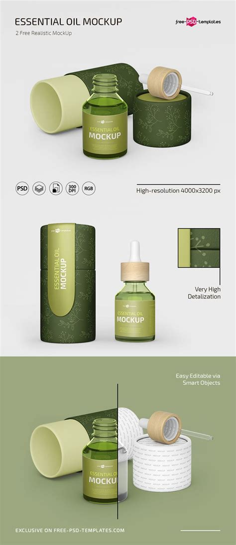 Showcase your corporate fashion, business, interior, gastronomy, and other projects a free a4 magazine mockup scene is here, full of customization options. Free PSD Essential Oil Mockup Template | Free-PSD-Templates