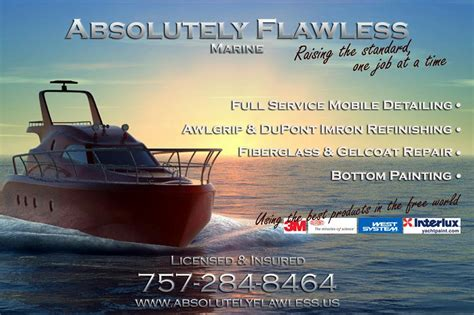 Boat Detailing Flyers by Absolutely Flawless Virginia Va 23451 757 284