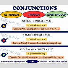 Although Vs Though Vs Even Though  English Study Page