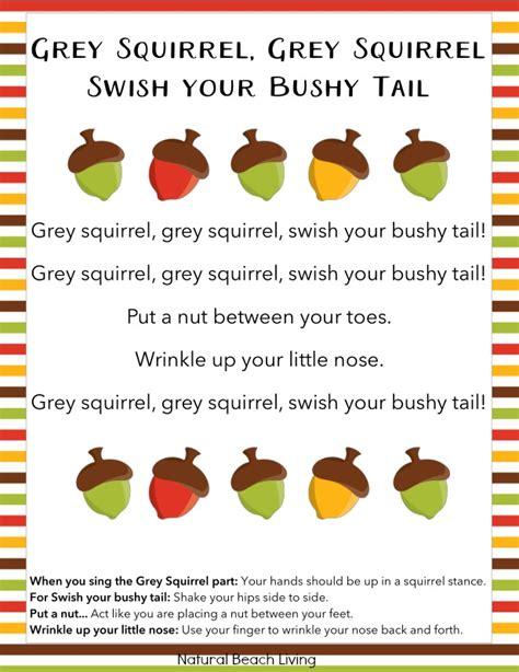 the best squirrel activities for preschool amp kindergarten 366   grey squirrel song