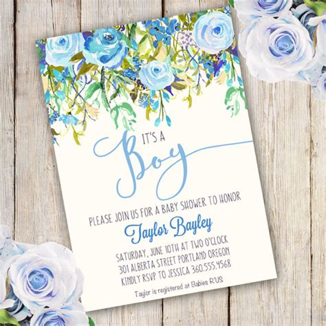 baby shower boy invitation template boy templateparty