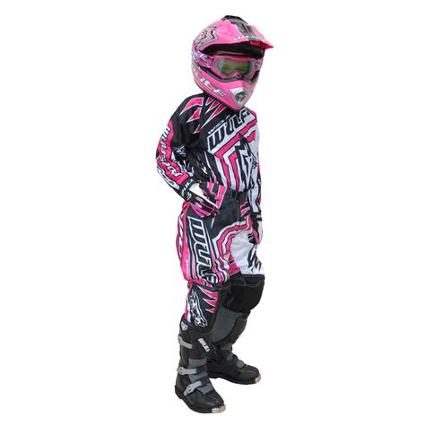 childrens motocross gear wulf wsx 4 cub childrens kids mx atv trials motocross bike