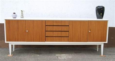 Le 60er Design by Design Sideboard Weiss Nussbaum 60er 70er 225 Cm Kubisches