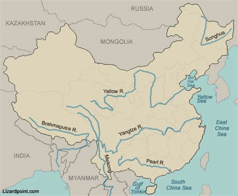 Rivers In China Map | My blog
