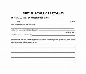 sample of special power of attorney for authorization With special power of attorney template free