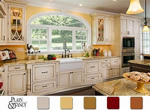 this cottage kitchen has a lovely country color scheme With what kind of paint to use on kitchen cabinets for labeling stickers