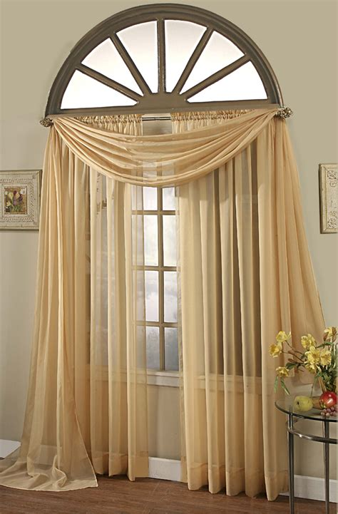 gold sheer curtains elegance sheer curtain voile scarf panels gold