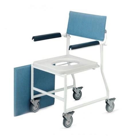 dual mobile bathroom bathing shower wheeled chair toilet