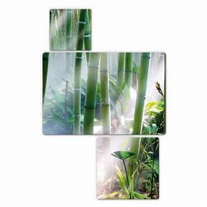 Tableau En Verre : tableau en verre for t de bambou 3 parties ~ Melissatoandfro.com Idées de Décoration