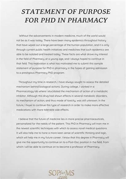 Pharmacy Purpose Sop Example Admission Statement Essay