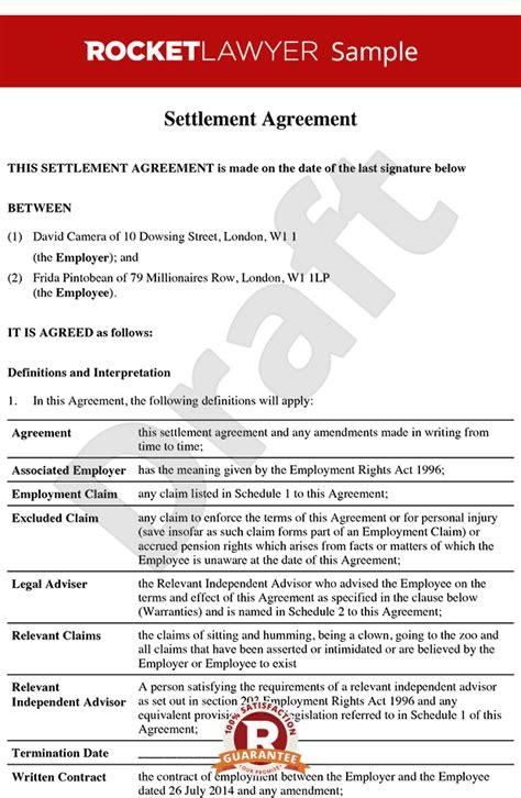 settlement agreement  compromise agreement