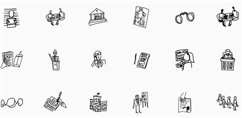 legal icons  noun project open law lab