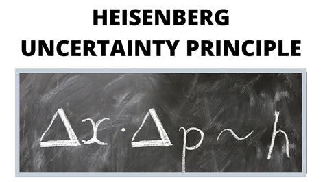 Heisenberg Uncertainty Principle - What Is The Uncertainty ...