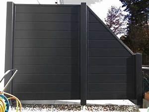 Anthrazit Sichtschutzzaun Kunststoff Anthrazit ECOline
