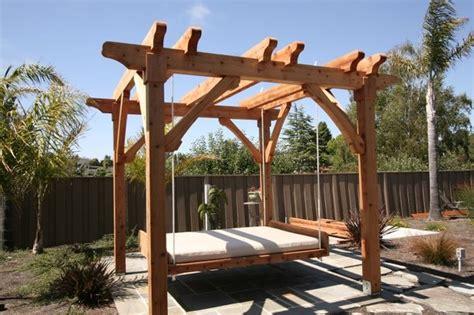 pergola  swing bed