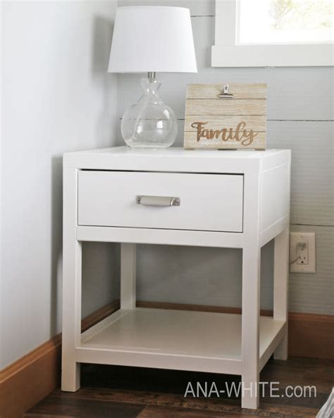 Bedside Tables by White Simple Modern Bedside Table Diy Projects