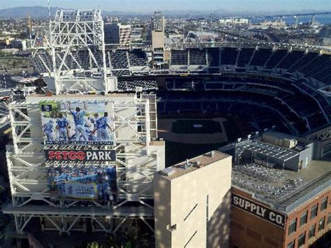 view of petco park from the lounge on the 22nd floor