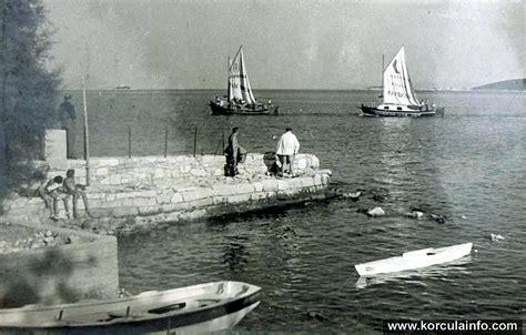 Ferry Boat Orebic Korcula by Sailing Boats In Orebic Nr Korcula In 1930s