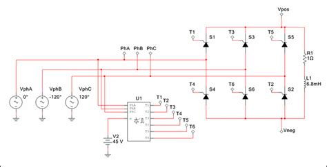 Phase Angle Controller Six Pulse Multisim Help