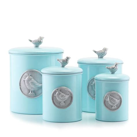 blue kitchen canister set international 4 bird canister set