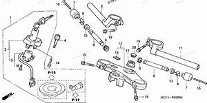 Honda Motorcycle 2001 Oem Parts Diagram For Handlebar