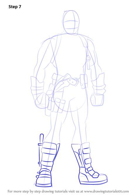 learn   draw deadpool full body deadpool step