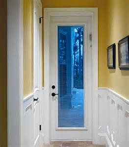 single door with blinds between glass blinds between the