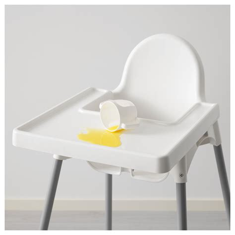 antilop highchair with tray antilop highchair with tray silver colour ikea