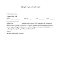 fake doctors note print  fake doctors note template