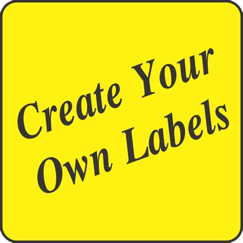 design your own labels create your own fluorescent yellow square labels