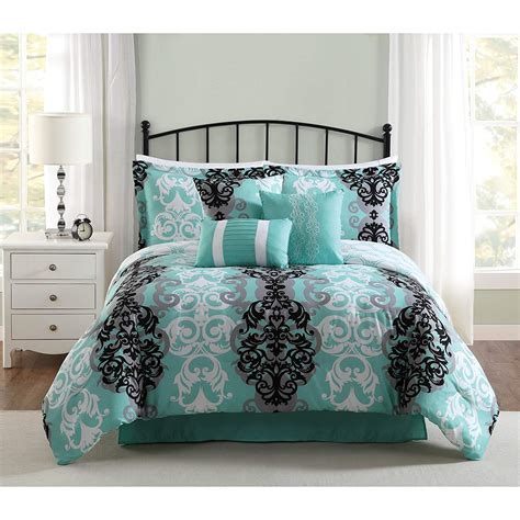 turquoise comforter set delboutree charcoal gray turquoise bedding sets
