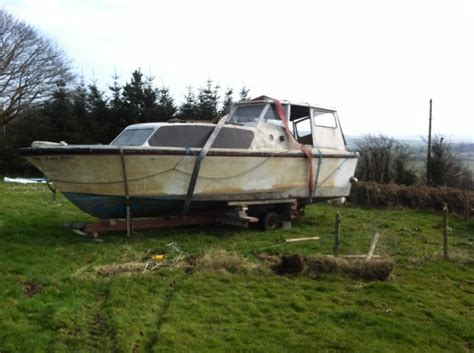 Cabin Cruiser Project Boats by 27ft Shannon River Cabin Cruiser Diy Project For Sale In
