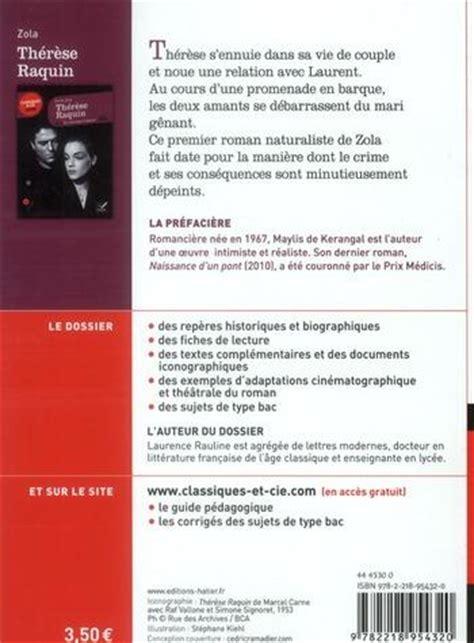 Thérèse Raquin Résumé Par Chapitre by Livre Th 233 R 232 Se Raquin 201 Mile Zola