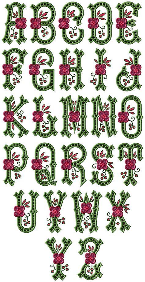 country charm cutwork alphabet