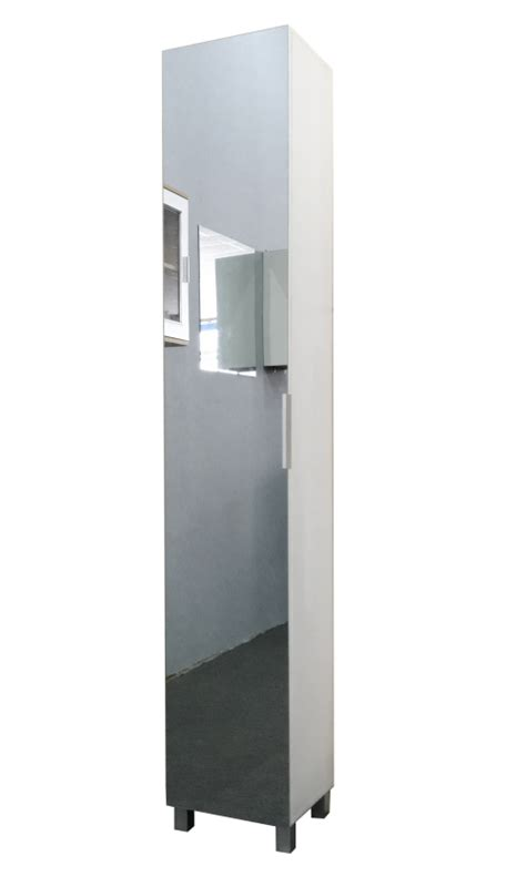 Mirrored Bathroom Cabinet With Shelves by Other Furniture Hazlo Floor Standing Mirrored Bathroom