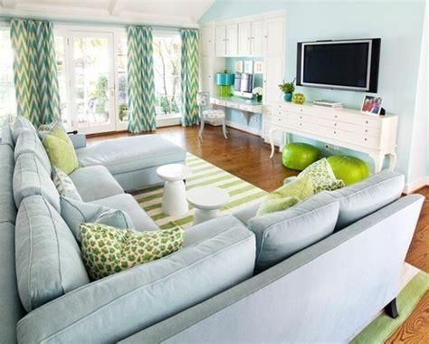 sofa color verde agua colores vivos para la decoraci 243 n de salas de estar