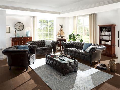 sofa 3 2 1 günstig sofa garnitur chesterfield ii 1 2 3 echtleder braun 187 chesterfield massivum