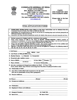 consulate general of india houston visa application form blank image for india visa fill online printable
