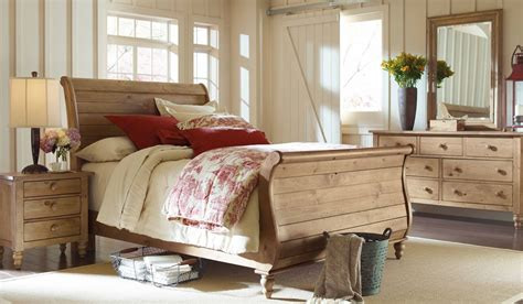 sleigh bedroom set homecoming vintage pine sleigh bedroom set from