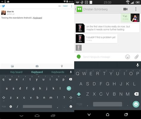 android keyboard update android l keyboard gets published in play softpedia