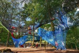 treetop net troline park opens 30 above the ground daily mail
