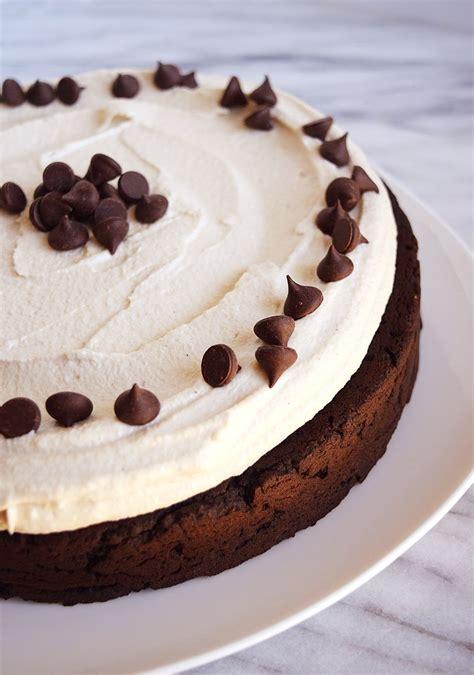 vegan chocolate cake  cream cheese frosting beaming