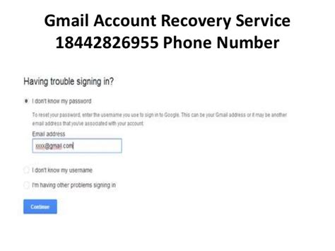 gmail account recovery service phone number 18442826955 us
